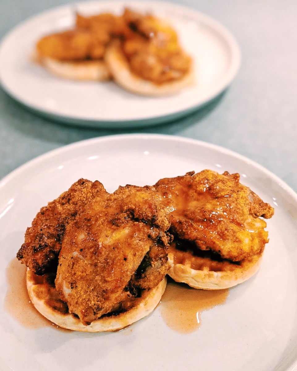 Air Fryer Chicken and Waffles